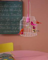 Hanglamp vogels neon sfeer 3